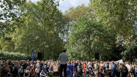 The crowd at the 'Defend our Democracy' rally in Russell Square at the weekend. Picture: Tom Lillywh