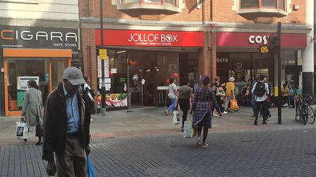 Jollof Box is grab-and-go cuisine situated just outside Dalston kingsland station.