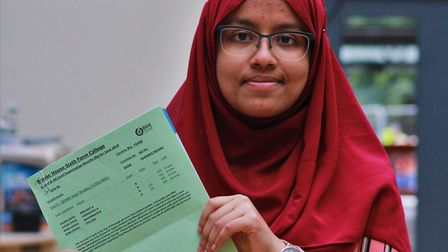 Nodi Shadia got three As and a B and plans to study medicine at university. Picture: Shanei Stephens