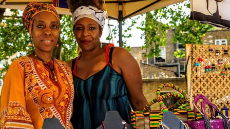 Two stallholders from the Queen's Crescent Summer Street Party last year. Picture: Marcus Boyland