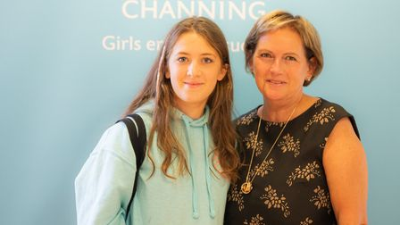 Lily Blue Harper at Channing School, who got 11 grade 9s in her GCSE results this morning. She is co