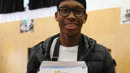 Somadina Egwuonwu showing off his GCSE results today.