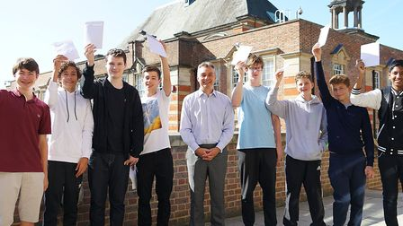 GCSE results day at UCS Hampstead. Pictures: UCS Hampstead