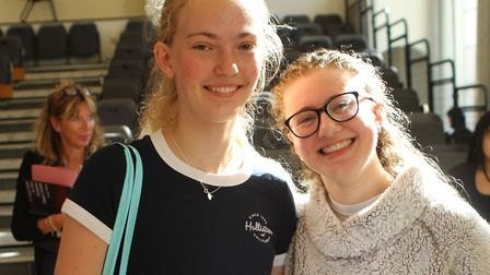 On the right, Vita Rottenberg, 16. Vita scored a stunning eleven grade 9s in her GCSEs at North Lond