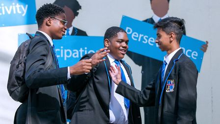 Joel Jack, Gary Cole and Mohammed Junaid Katon celebrating their brilliant results in the top 10% of