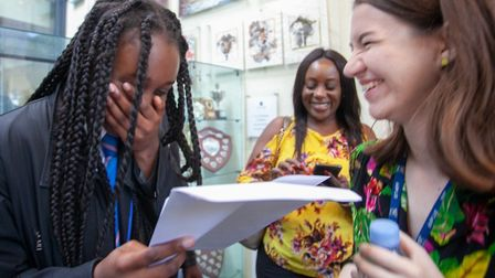 Deborah Shonibare is extremely happy with her 11 GCSEs, half of which were at the top grades 7 to 9.