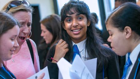 Shivani Chauhan gained 12 GCSEs including nine at grades 7 to 9. Picture: Petchey Academy