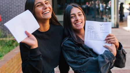 Year 11s on results day at Stoke Newington School