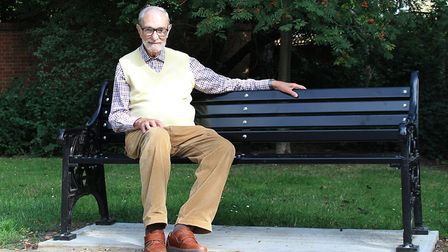 Eugene Myerson on one of the new benches in Midhurst Gardens, Fortis Green. Picture: Supplied