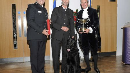 Chief Constable Gareth Wilson (left) and High Sheriff George Vestey also presented the Agnes Chaplin
