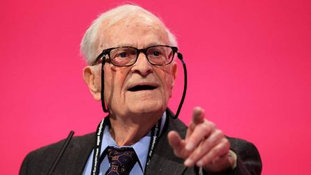 Harry Leslie Smith at Labour party conference. Photograph: PA.