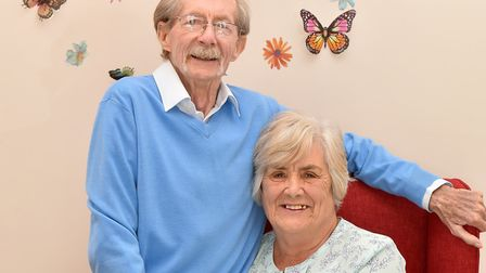 Stanley and Marion Stroud are celebrating their diamond wedding anniversary. Picture: Nick Butcher
