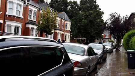 On the street where you live: a road in Crouch End which could be affected by changes to the CPZ. Pi