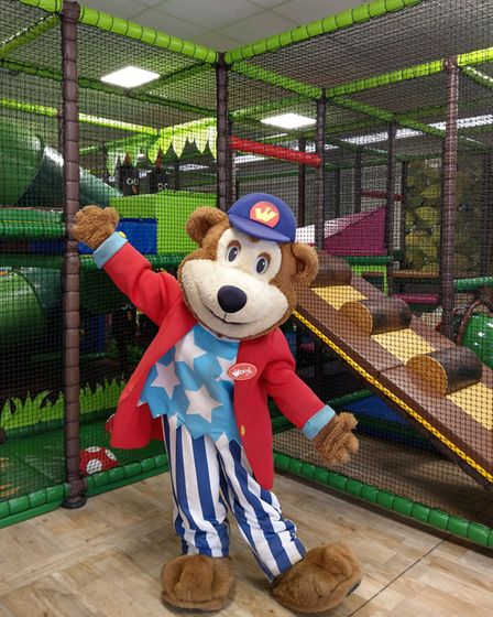 Woody Bear at the brand new soft play area at Pleasurewood Hills in Lowestoft. Pictures: Pleasurewoo