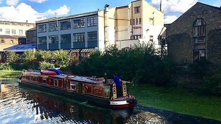The River Lea looks beautiful in the sunshine. Picture: LOU RAYBURN