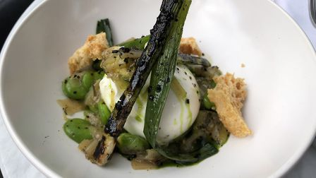 Burrata with pine nuts, mint and courgettes at the Stratford Brasserie. Picture: Emma Bartholomew