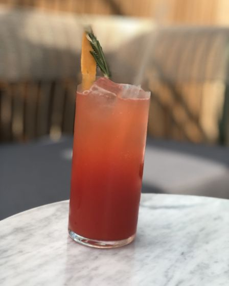 A strawberry and ginger mocktail at the Stratford Brasserie. Picture: Emma Bartholomew