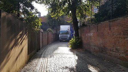 A lorry making a delivery at Five Points brewery. Picture: John Denton