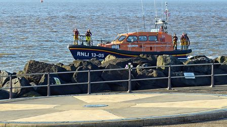 Lowestoft Lifeboat took part in a thorough search for missing woman Stephanie Parker this morning. P