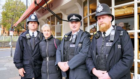Liz Morris, Highgate ward councillor and group leader for Liberal Democrat Party, with police office