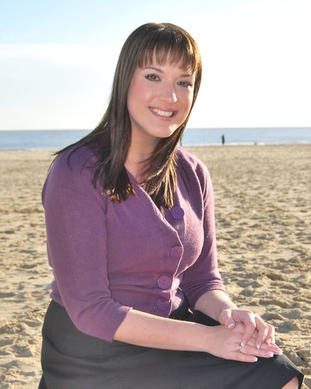 Christina Earle during her time working at The Beach radio in Lowestoft. Picture: Courtesy of The Be