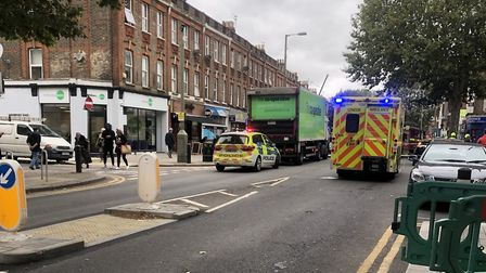 The site of the crash in East Finchley High Road. Picture: MPS Barnet