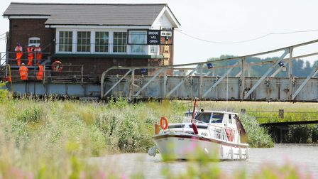 Somerleyton Swing Bridge which is broken and is being fixed by Network Rail. Picture: James Bass