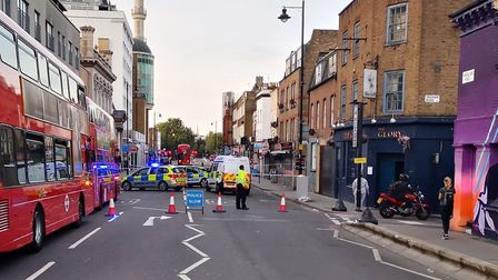 The A10 is shut between Osman Road and Laburnham Street. Picture: @MPSHackney