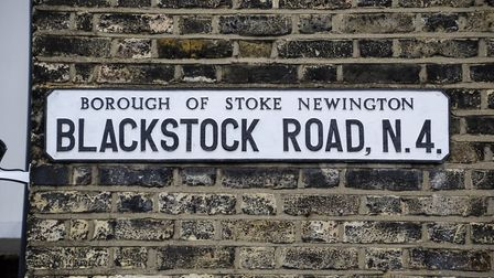 A sign at the junction of Blackstock Road and Somerfield Road. Picture: Amir Dotan