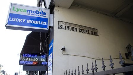 The sign in Slindon Court off Stoke Newington High Street. Picture: Amir Dotan