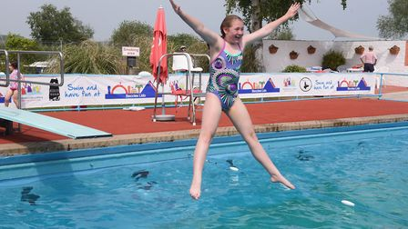 Fun in the sun as the outdoor Lido at Beccles opens for the summer season. Picture: DENISE BRADLEY