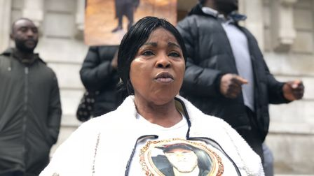 """We want justice"": Abraham Badru's mother Ronke calls for help to trace his killer outside Hackney T"