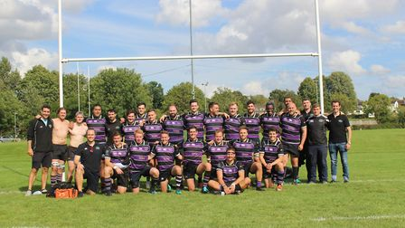 Belsize Park face the camera after a pre-season clash (Pic: Zachary Webb)