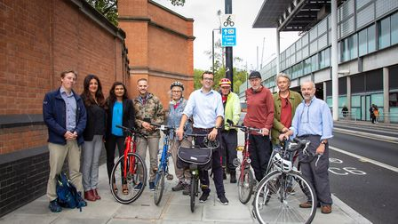 Will Norman launches Cycleway 6 in Kings Cross. Picture: TfL