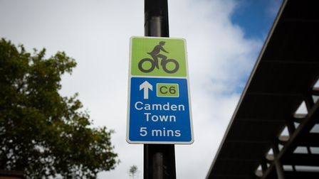 The new Cycleway sign. Picture: TfL