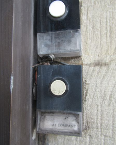 The doorbell at 788-790 Finchley Road still bears the name of one of its tenants, A1, many years aft