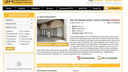 The estate agents' listing for 788-790 Finchley Road, which in May this year was described as 'previ