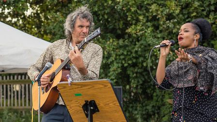 """John Etheridge and Vimala Rowe debut their """"Anthem to the Heath"""". Picture: Diana von R Photography"""