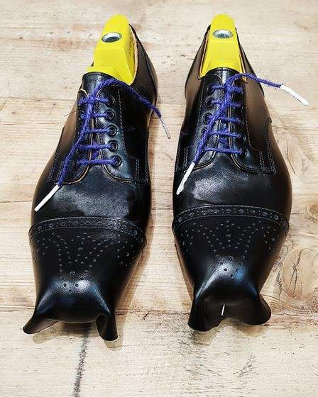 Uppers lasted on the one day Carr�ducker shoemaking course. Picture: Carr�ducker