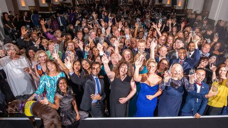 Jubilant Royal Free staff celebrate at the annual awards ceremony. Picture: Royal Free