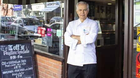 Costas Georgiou from Toff's in Muswell Hill. Picture: Peter Kyriacou/Muswell Business