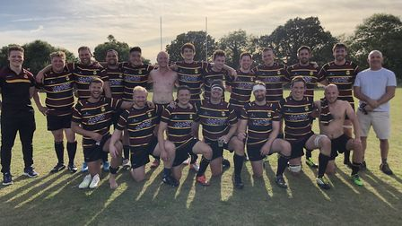 Hampstead face the camera after their season opener (Pic: Jon Boyle)