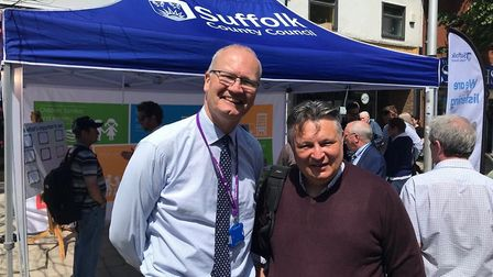Suffolk County Council leader Matthew Hicks and Waveney District Council leader Mark Bee at the We A