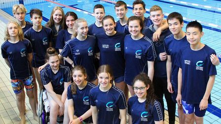 CSCSC swimmers, who have competed at the national finals. Picture: CSCSC