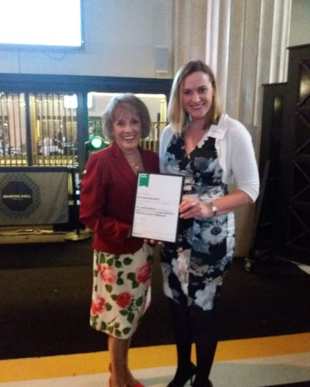 Sarah Laffling is pictured with Dame Esther Rantzen. Picture: The North Suffolk branch of the NSPCC