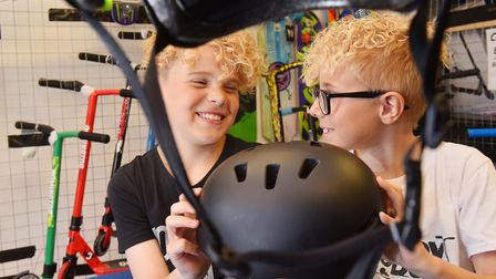 Ethan Knights and Alfie Ashton at Skatebox in Lowestoft. Picture: Nick Butcher