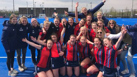 Hampstead & Westminster's women celebrate promotion (HWHC)