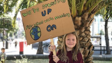 """Georgia Adams, 10, came to the climate emergency rally outside Hackney Town Hall because """"people are"""