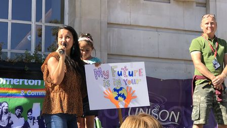 One parent spoke on behalf of her six-year-old about why urgent action is needed to tackle the clima
