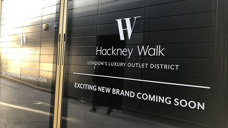 This sign states that new brands are coming to Hackney Walk soon - but many of the units have never